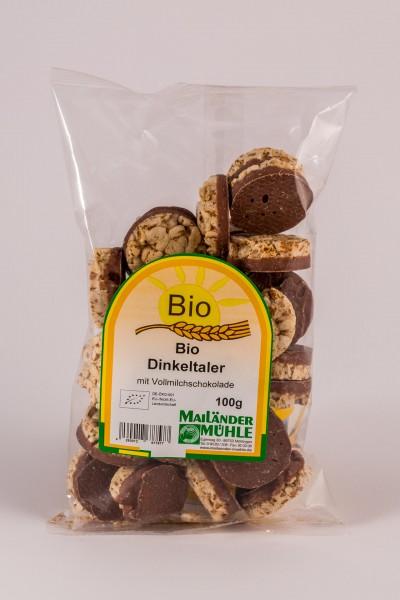Vollmilch -Bio-Dinkeltaler 100 g