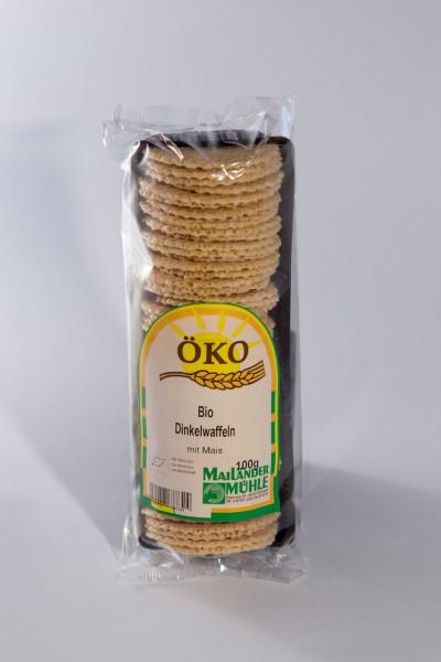 Bio Dinkelknusperwaffeln mit Mais 100 g