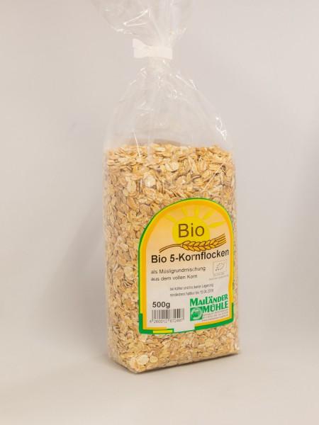 Bio 5-Korn-Flocken 500g