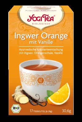 Yogi-Tee Ingwer-Orange öko Aufgussbeutel 17 Stück