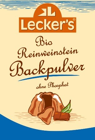 Lecker's Bio Reinweinstein Backpulver 1 x 4 Stück