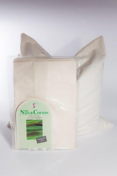 Baumwollinlett mit Reißverschluß 40 x 40 cm