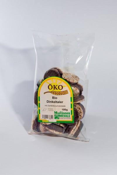 Zartbitter-Bio-Dinkeltaler 100 g