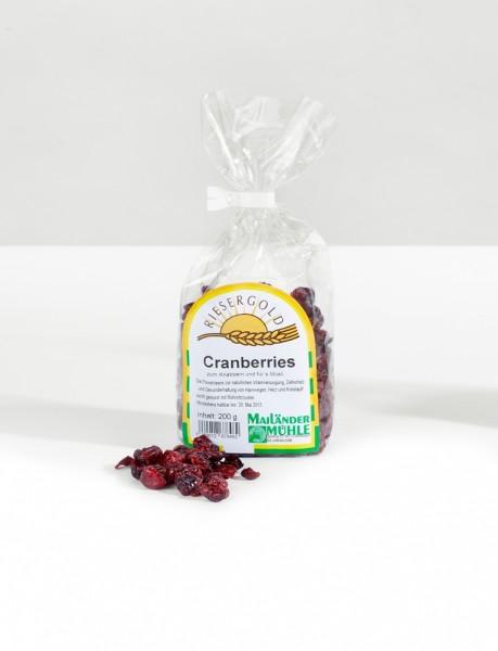 Cranberries leicht gesüsst 200 g