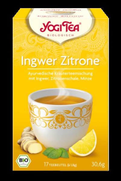 Yogi-Tee Ingwer-Zitrone öko Aufgussbeutel 17 Stück